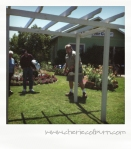 Steve Chamblee's easy-to-build (for him!) pergola demo at Arbor Gate